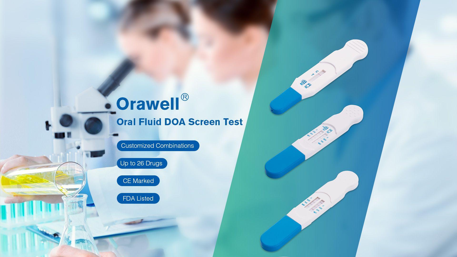 Orawell Oral Fluid DOA Screen Test