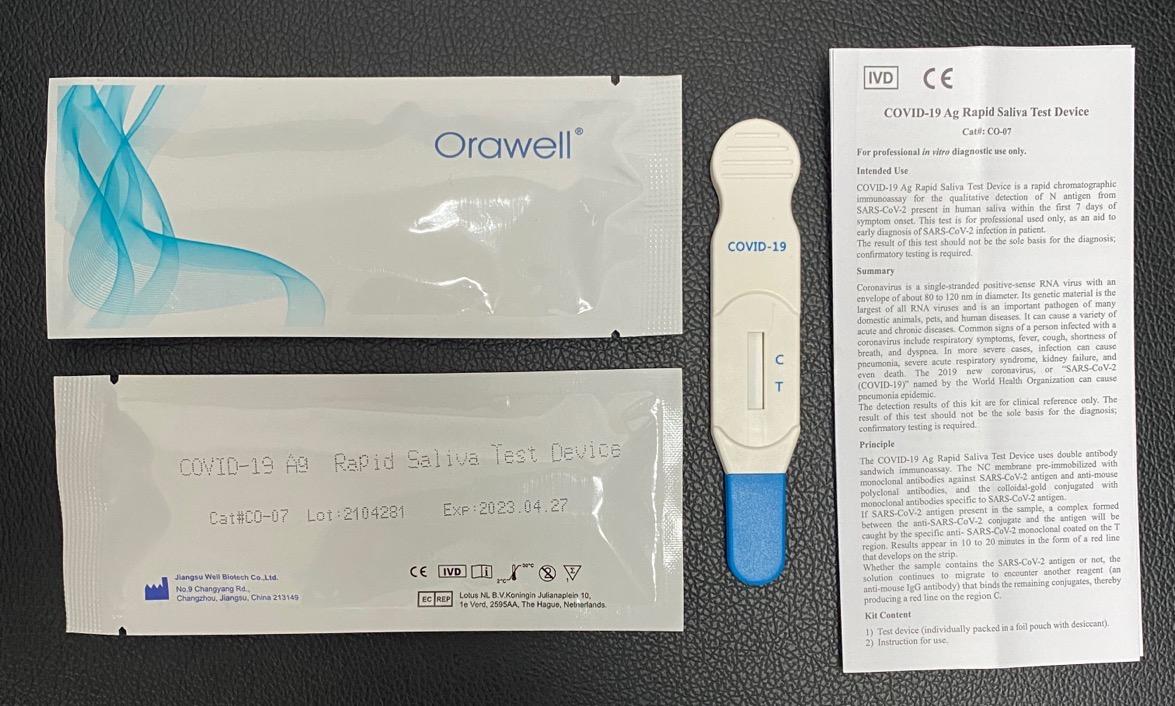 One Step COVID-19 Ag Rapid Saliva Test Device Lollipop